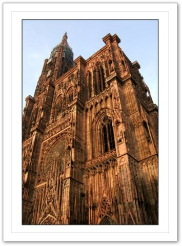Cathédrale Notre-Dame de Strasbourg .Vacances à Strasbourg